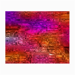 Purple Orange Pink Colorful Art Small Glasses Cloth (2-Side)