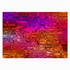 Purple Orange Pink Colorful Art Large Glasses Cloth (2-Side)