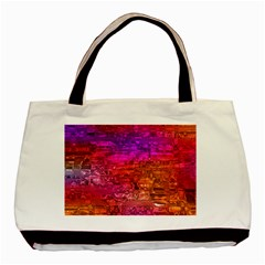 Purple Orange Pink Colorful Art Basic Tote Bag (Two Sides)