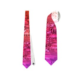 Purple Orange Pink Colorful Art Neckties (One Side)