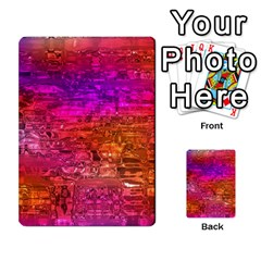 Purple Orange Pink Colorful Art Multi-purpose Cards (Rectangle)