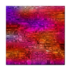 Purple Orange Pink Colorful Art Face Towel