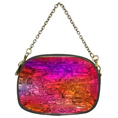 Purple Orange Pink Colorful Art Chain Purses (Two Sides)