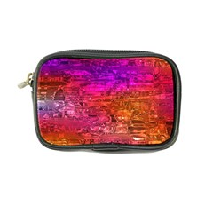 Purple Orange Pink Colorful Art Coin Purse