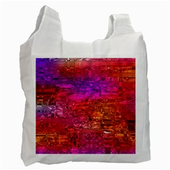 Purple Orange Pink Colorful Art Recycle Bag (Two Side)
