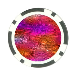 Purple Orange Pink Colorful Art Poker Chip Card Guards (10 pack)