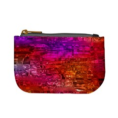 Purple Orange Pink Colorful Art Mini Coin Purses