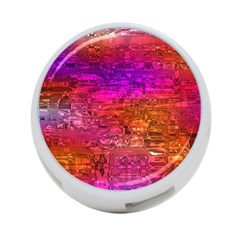 Purple Orange Pink Colorful Art 4-Port USB Hub (One Side)