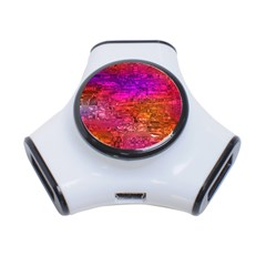 Purple Orange Pink Colorful Art 3-Port USB Hub