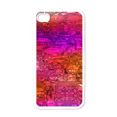 Purple Orange Pink Colorful Art Apple iPhone 4 Case (White)