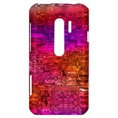 Purple Orange Pink Colorful Art HTC Evo 3D Hardshell Case