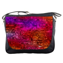 Purple Orange Pink Colorful Art Messenger Bags