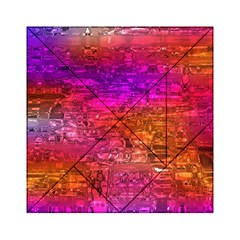 Purple Orange Pink Colorful Art Acrylic Tangram Puzzle (6  x 6 )