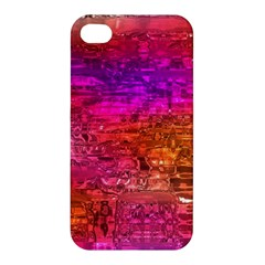 Purple Orange Pink Colorful Art Apple iPhone 4/4S Premium Hardshell Case