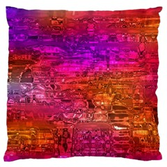 Purple Orange Pink Colorful Art Large Cushion Case (One Side)