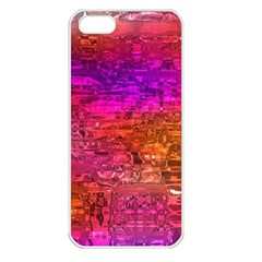 Purple Orange Pink Colorful Art Apple iPhone 5 Seamless Case (White)