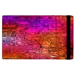 Purple Orange Pink Colorful Art Apple iPad 2 Flip Case
