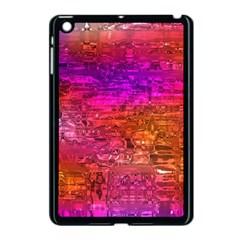 Purple Orange Pink Colorful Art Apple iPad Mini Case (Black)