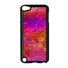 Purple Orange Pink Colorful Art Apple iPod Touch 5 Case (Black)
