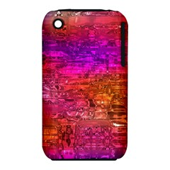 Purple Orange Pink Colorful Art Apple iPhone 3G/3GS Hardshell Case (PC+Silicone)