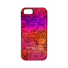 Purple Orange Pink Colorful Art Apple iPhone 5 Classic Hardshell Case (PC+Silicone)