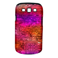 Purple Orange Pink Colorful Art Samsung Galaxy S III Classic Hardshell Case (PC+Silicone)