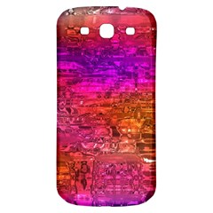 Purple Orange Pink Colorful Art Samsung Galaxy S3 S III Classic Hardshell Back Case