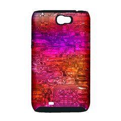 Purple Orange Pink Colorful Art Samsung Galaxy Note 2 Hardshell Case (PC+Silicone)