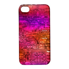 Purple Orange Pink Colorful Art Apple iPhone 4/4S Hardshell Case with Stand