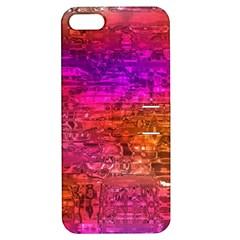 Purple Orange Pink Colorful Art Apple iPhone 5 Hardshell Case with Stand