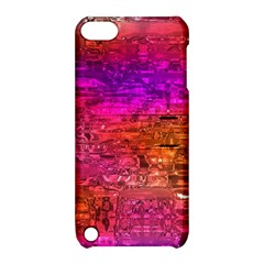 Purple Orange Pink Colorful Art Apple iPod Touch 5 Hardshell Case with Stand