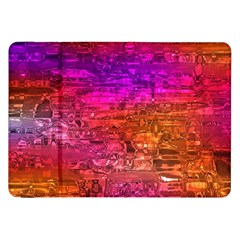 Purple Orange Pink Colorful Art Samsung Galaxy Tab 8.9  P7300 Flip Case