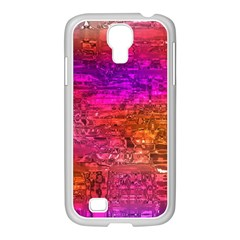 Purple Orange Pink Colorful Art Samsung GALAXY S4 I9500/ I9505 Case (White)