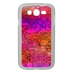 Purple Orange Pink Colorful Art Samsung Galaxy Grand DUOS I9082 Case (White)