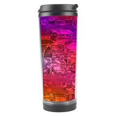 Purple Orange Pink Colorful Art Travel Tumbler