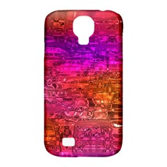 Purple Orange Pink Colorful Art Samsung Galaxy S4 Classic Hardshell Case (PC+Silicone)