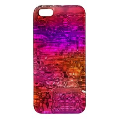 Purple Orange Pink Colorful Art iPhone 5S/ SE Premium Hardshell Case