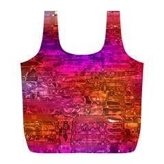 Purple Orange Pink Colorful Art Full Print Recycle Bags (L)