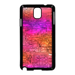 Purple Orange Pink Colorful Art Samsung Galaxy Note 3 Neo Hardshell Case (Black)