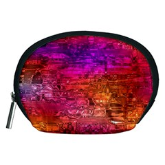 Purple Orange Pink Colorful Art Accessory Pouches (Medium)