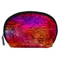 Purple Orange Pink Colorful Art Accessory Pouches (Large)