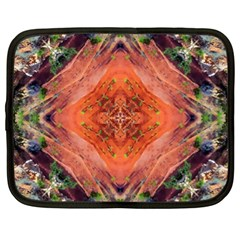 Boho Bohemian Hippie Floral Abstract Faded  Netbook Case (XL)