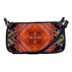 Boho Bohemian Hippie Floral Abstract Faded  Shoulder Clutch Bags