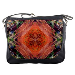 Boho Bohemian Hippie Floral Abstract Faded  Messenger Bags