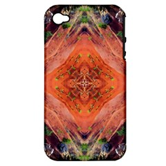 Boho Bohemian Hippie Floral Abstract Faded  Apple iPhone 4/4S Hardshell Case (PC+Silicone)