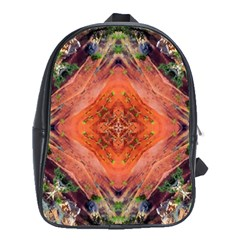 Boho Bohemian Hippie Floral Abstract Faded  School Bags (XL)