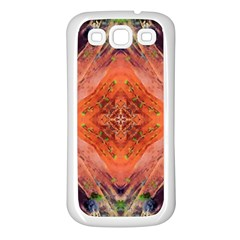 Boho Bohemian Hippie Floral Abstract Faded  Samsung Galaxy S3 Back Case (White)