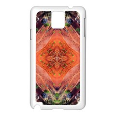 Boho Bohemian Hippie Floral Abstract Faded  Samsung Galaxy Note 3 N9005 Case (White)