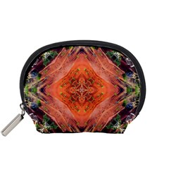 Boho Bohemian Hippie Floral Abstract Faded  Accessory Pouches (Small)