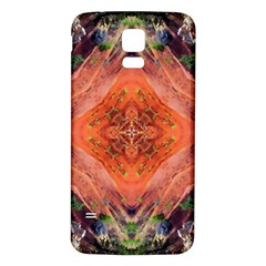 Boho Bohemian Hippie Floral Abstract Faded  Samsung Galaxy S5 Back Case (White)